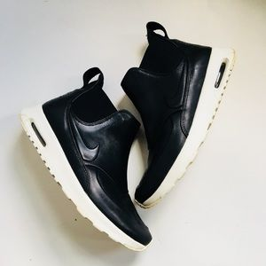 Nike Air Max Thea Mid Black Leather Sneaker Boot 8
